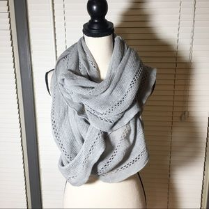 Super soft grey sparkle infinity scarf NICE